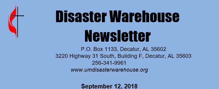 Disaster Warehouse September Newsletter